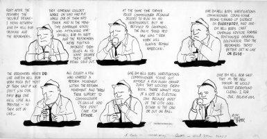 FEIFFER, JULES - Feiffer Village Voice Sunday, 1961 Comic Art