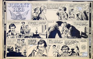 KIRBY, JACK / ghost pencils for FRANK GIACOLA - Johnny Reb Sunday 3/8 1959 Comic Art