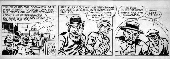 KIRBY, JACK / JOE SIMON - Boy Commandos - DC comic strip daily tryout 1942, Brooklyn Andr� Jan Comic Art