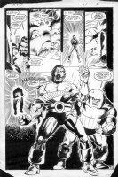 LAROCQUE, GREG - Marvel Team-Up #150 page 16, Black Tom,  Juggernaut Comic Art