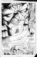 LAROCQUE, GREG - Marvel Team-Up #150 splash page 8, Juggernaut Comic Art