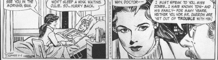 DRAKE, STAN - Juliet Jones daily 1/1 1985, Juliet, patient Sam, Dr Comic Art