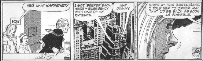 DRAKE, STAN - Juliet Jones daily 5/24 1985, Eve, nurse, Dr beeped Comic Art