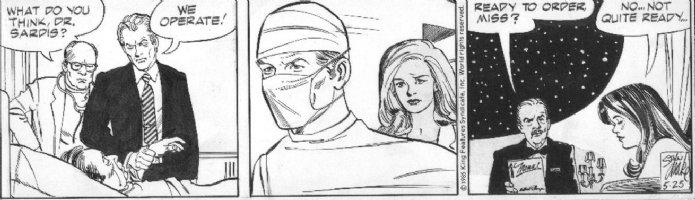 DRAKE, STAN - Juliet Jones daily 5/25 1985, Eve, Dr in surgery Comic Art