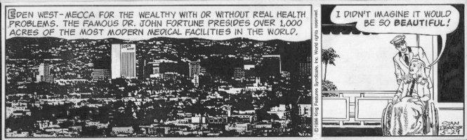 DRAKE, STAN - Juliet Jones daily 5/29 1986, medical facility, Eve in wheelchair Comic Art