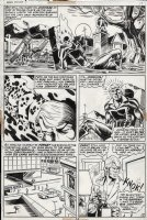 PLOOG, MIKE - Marvel Spotlight #7 pg 14, Ghost Rider in a cemetery with his motorcycle, transforms back into Johnny Blaze Comic Art