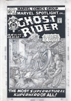 PLOOG, MIKE - Marvel Spotlight #5 cover, origin and first Ghost Rider! cover pencils, logo on overlay Comic Art