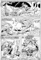 PLOOG, MIKE - Manthing #9 pg 22, Manthing vs gator, swamp people Comic Art