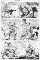 PLOOG, MIKE - Manthing #11 pg 27, four panels - Manthing vs tech soldiers Comic Art