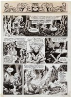 PLOOG, MIKE - Marvel Super Action #1 pg 6 - 1st Weird World, Large size art. Comic Art