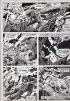 PLOOG, MIKE - Planet of Apes magazine #? large pg, Alex & Jason fight apes for weapon 1975 Comic Art