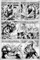 PLOOG, MIKE - Giant Size Manthing #1 pg 30, Manthing vs Glob + Nixon Comic Art