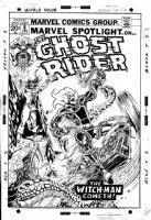 PLOOG, MIKE - Marvel Spotlight #8 cover, Ploog' 4th & last Ghost Rider Comic Art