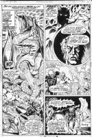 PLOOG, MIKE - Marvel Spotlight #8 pg 10 - Ghost Rider vs Satan, demon- origin redo- signed  Comic Art