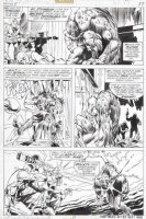 PLOOG, MIKE - Manthing #11 pg 27, Manthing vs tech soldier Comic Art