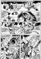 PLOOG, MIKE - Manthing #11 pg 30, Manthing vs tech soldier Comic Art