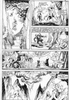 PLOOG, MIKE / CRAIG RUSSELL - Marvel Fanfare #24 pg 16; Weird Worlds, Elves, riding creatures Comic Art