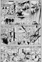 PLOOG, MIKE / RUSSELL - Marvel Fanfare #24 pg 9; Weird Worlds, Elves in bar Comic Art