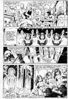 PLOOG, MIKE / RUSSELL - Marvel Fanfare #24 pg 8; Weird Worlds, Elves drink, witches conjure Weremen Comic Art