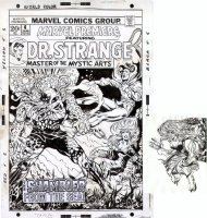 PLOOG, MIKE - Marvel Premiere #6 cover, Dr Strange vs Sligguth + added cover art Comic Art