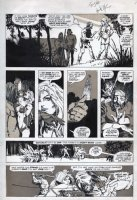 CHAYKIN, HOWARD - KULL & Barbarians #2 pg, Red Sonja battles & origin, July 1975 - pre-dates Sonja series M.Feature #1 Comic Art