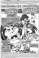 CHAYKIN, HOWARD - Conan The Barbarian #82 pg 1, splash with Sabia, the Witch-woman Comic Art