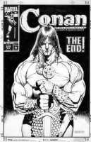 MACNEIL, COLIN - Conan #275 cover- Conan stands tall, final issue Comic Art