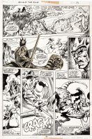 BRUNNER, FRANK - Howard the Duck #1 pg 15, Howard ala Conan & 1st app. Beverly 1976 Comic Art