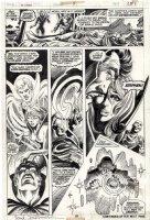 BRUNNER, FRANK - Doctor Strange #5 pg 23, two Docs reunited, Clea, Wong & Silver Dagger Comic Art