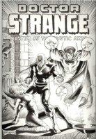 BRUNNER, FRANK - Doctor Strange #4 P/I recreation cover Artwork, Doc Clea Silver Dagger Comic Art