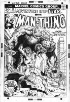 BRUNNER, FRANK - Fear #17 cover Man-Thing series - 1st app Wundar (Superman satire) by Steve Gerber Comic Art