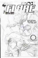 BRUNNER, FRANK - Flare Adventures #17 cover, Flare vs Tigress Comic Art