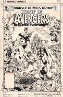 GOLDEN, MIKE P/I - What If #29 cover - classic Avengers defeat all Marvel Universe 1981 Comic Art
