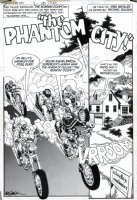 GOLDEN, MICHAEL P/I - Ghosts #88 pg 1 splash -  The Phantom City!  Comic Art