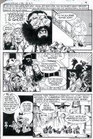 GOLDEN, MICHAEL P/I - Ghosts #88 pg 3 - biker gang Comic Art