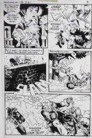 GOLDEN, MICHAEL P/I - Ghosts #88 pg 5 - biker gang Comic Art