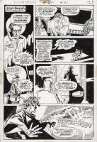 DeZUNIGA, TONY - Phantom Stranger #21 pg 5. Dr. 13 The Ghost-Breaker versus Medusa in:  Woman of Stone  Comic Art