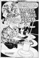 DeZUNIGA, TONY - House of Mystery #253 DC pg 1 Splash - host Cain & mad scientist Comic Art