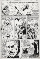 MAYERIK, VAL - Fear #15 pg 28, Man-Thing destroys the horror from Sominus and saves the world. Last page of story and saga! Comic Art