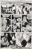 MAYERIK, VAL - Fear #15 pg 10, Man-Thing story. Joshua Kale summons the Cult of Zhered-Na Comic Art