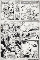 MAYERIK, VAL - Fear #15 pg 22, 2/3rds page splash. Man-Thing story. Jennifer and the Man-Thing witness the hell of The Dark Domain! Comic Art