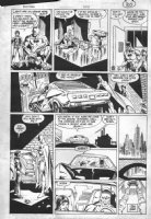 ANDRU, ROSS - Batman #409 last pg, Batman and Jason Todd in Batmobile calling him  Robin , 2nd continuity app. Comic Art