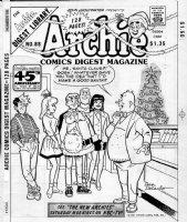 DECARLO, DAN - Archie Digest #88 cover; Christmas special, principal as Santa 1987 Comic Art