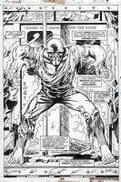 TRIMPE, HERB / SEVERIN - Ironman #85 pg 17, full Splash, Freak appears & huge image Comic Art