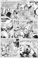 TRIMPE, HERB / SEVERIN - Ironman #85 pg 2, new modern armor (no nose!) Bullpen app (Wein Trimpe Severin, etc) Comic Art