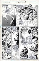 DAVIS, ALAN - Excalibur #23 pg 13, Capt Britain saves Kitty & Meghan Comic Art