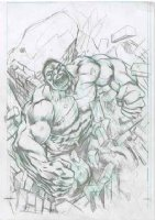 DAVIS, ALAN - Avengers #14 Fear Itself cover prelim pencil, Hulk featured Comic Art