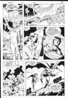 DAVIS, ALAN - Detective Comics #571 pg 3, Batman & Robin leap to action! Comic Art