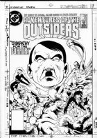 DAVIS, ALAN - Adventures of the Outsiders #35 cover, team vs surreal Hitler Comic Art