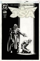 DAVIS, ALAN - JSA #11 cover, gun to the head Comic Art